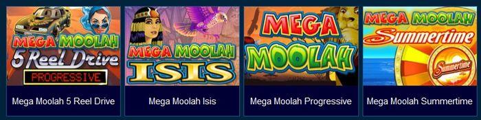 Mega Moolah Progressive Jackpot games from Microgaming