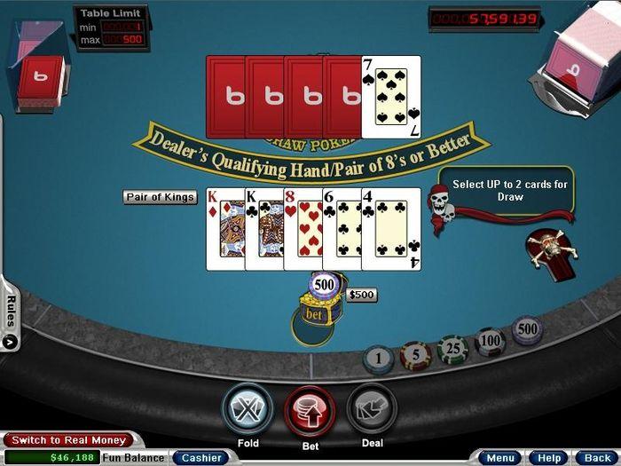 Microgaming Caribbean Draw Poker with Progressive Jackpot