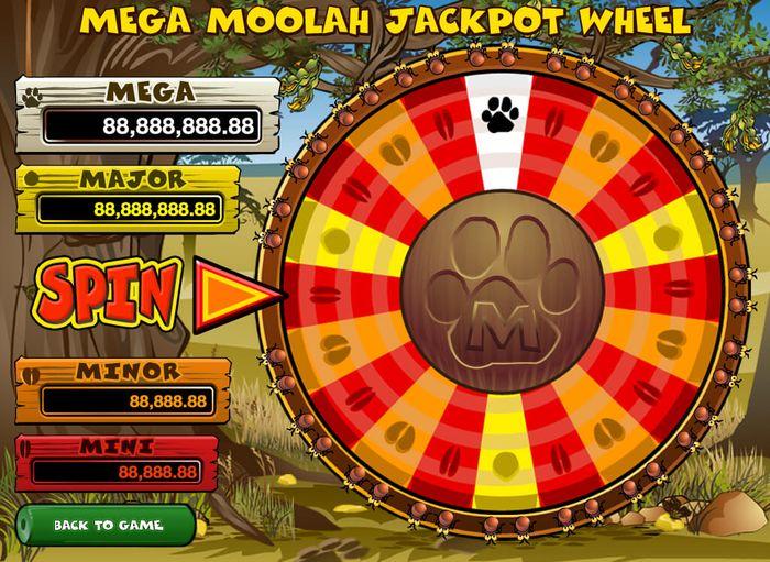 Mega Moolah jackpot çarkı