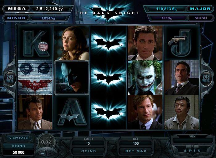 The Dark Knight slotu