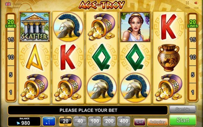 Age of Troy EGT Progressive Jackpot Slot Game