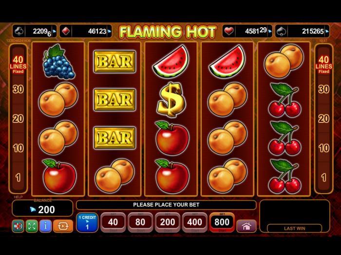 Flaming Hot EGT Progressive Jackpot Slot Game