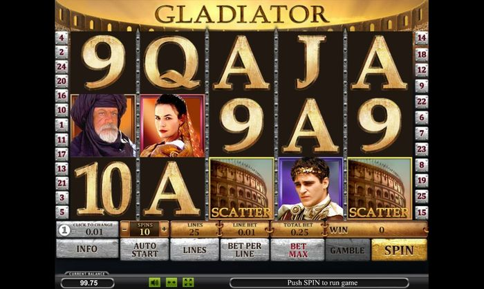 Online casino wins from Gladiator slot by Playtech gave away a jackpot