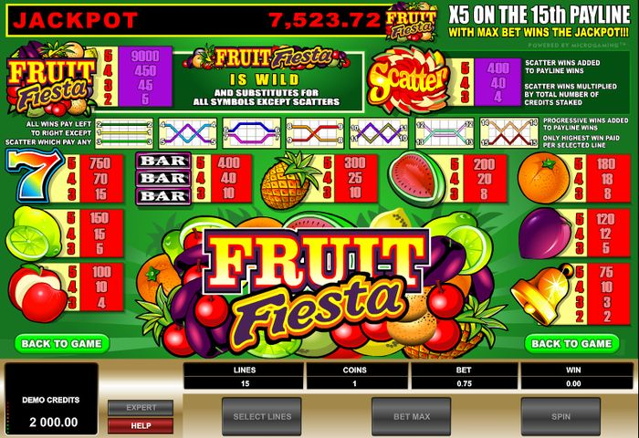 Fruit Fiesta fast grow jackpot