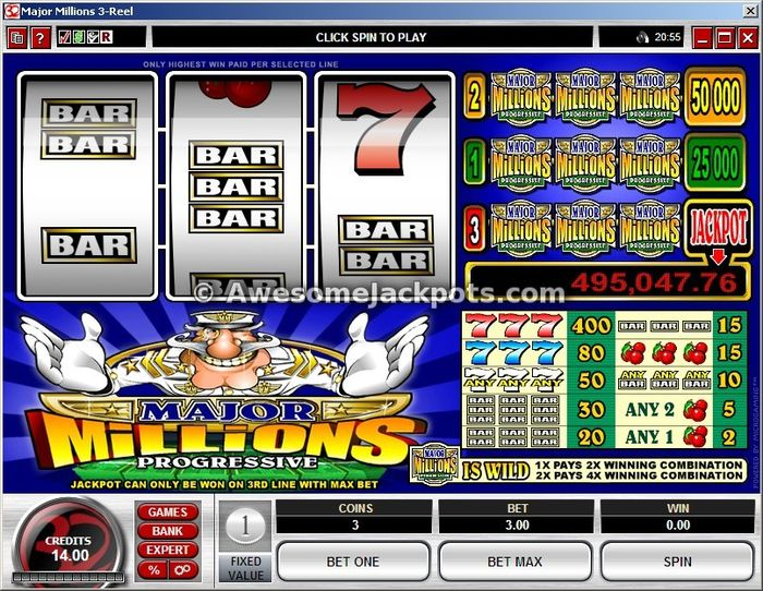 Major Millions big starting progressive jackpot