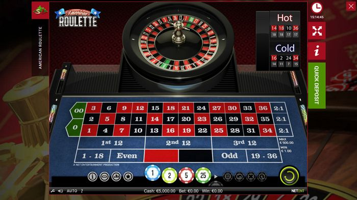 Roulette emulator in online casino