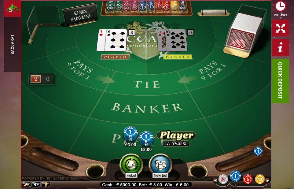 Online baccarat: rules and game features