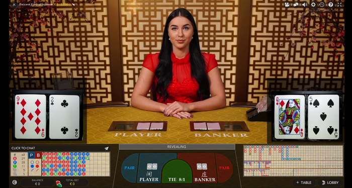 Evolution Gaming: Baccarat Control Squeeze