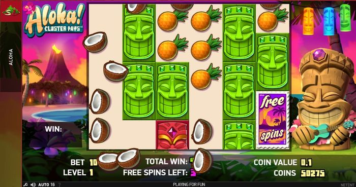 Aloha Symbol Drop In Free Spins Online Gambling News Sports