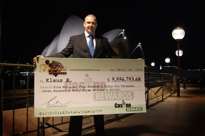 April 2008, Mega Moolah Jackpot, $ 5.5 for Klaus from Finland