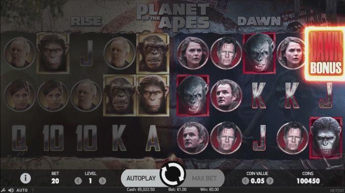 Активация функции Dawn Bonus в Planet of the Apes