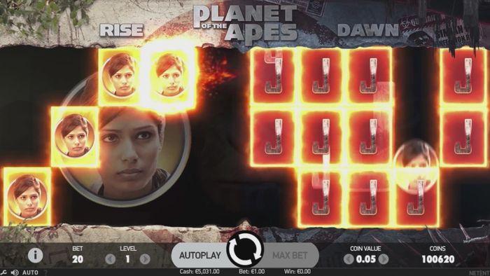 Сбор призовых цепочек Dual Bonus в Planet of the Apes