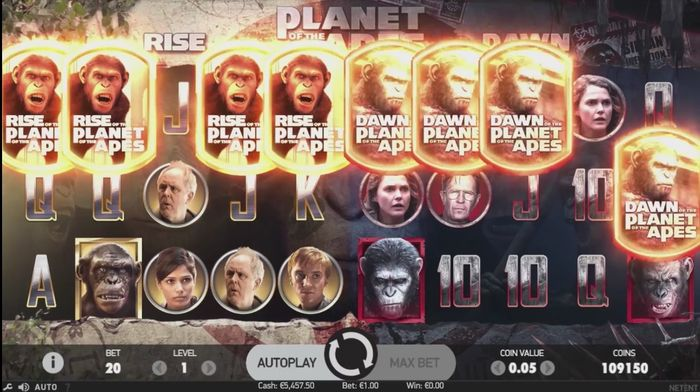 Play Planet of the Apes Online Slots at Casino.com New Zealand