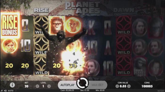 Активация функции Rise Bonus в Planet of the Apes