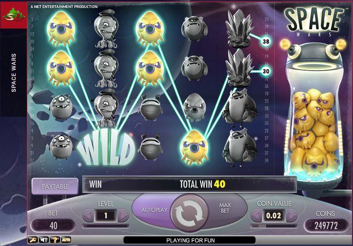 Игровой автомат space wars netent