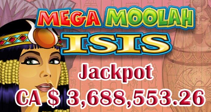 Выигрыш Mega Moolah Isis в январе 2018 года