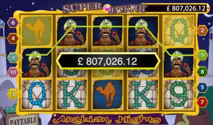 Arabian Night slotu: proqresif jackpot kazanıldı