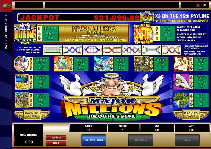 major millions 5 reel casino