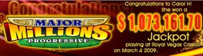 Major Millions Slot Win