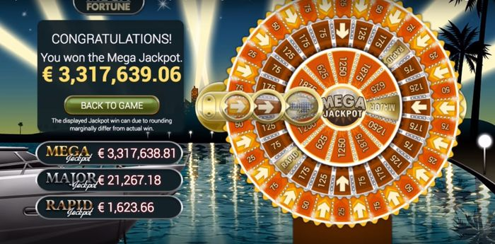 March 2017, the win of Mega Fortune in the amount of € 3.32 million went to Sweden