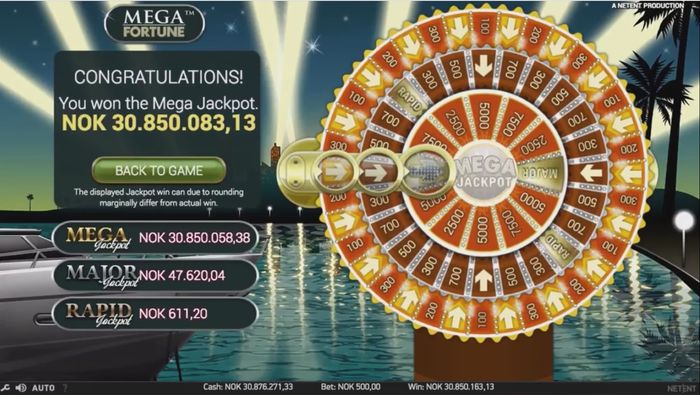 May 2017, mega win of Mega Fortune in the amount of € 3.29 million was received by a player from Norway