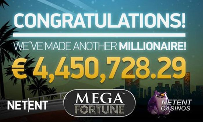 November 2017, Mega Jackpot in the amount of € 4.45 million went to an anonymous player