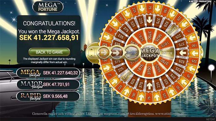 Ноябрь 2010, Mega Jackpot от Mega Fortune