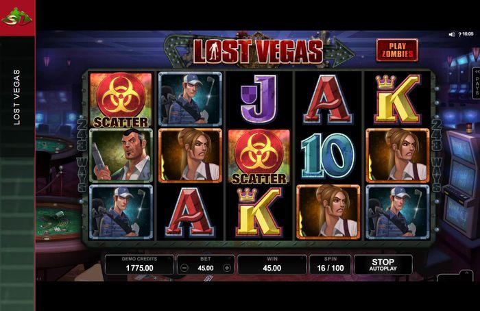 Lost Vegas دو علامت پراکنده در بازی اسلات