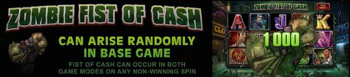 بنوس Zombie Fist of Cash در اسلات