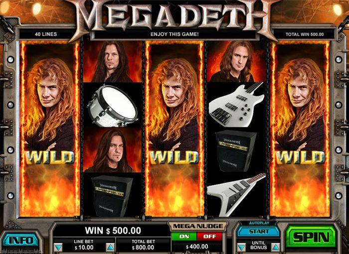 Слоты LeGa: Megadeth