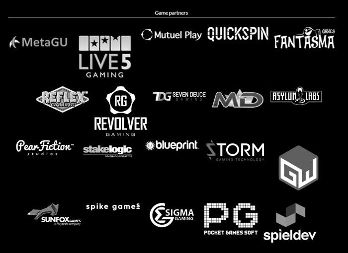 Leander Games: Partners