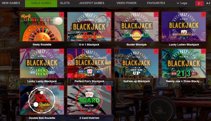 Leander Games Slots: Table Games