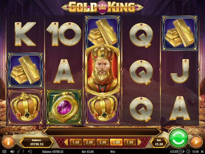 Автомат Золотой король: игровое поле