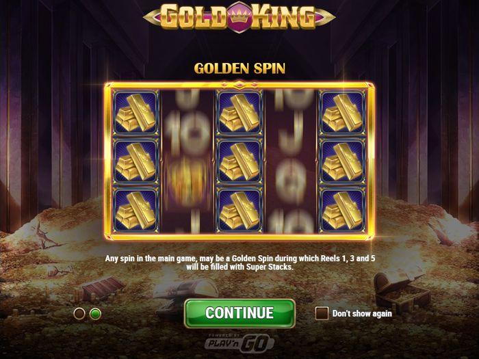 Golden Spin: бонусная фишка золотого короля