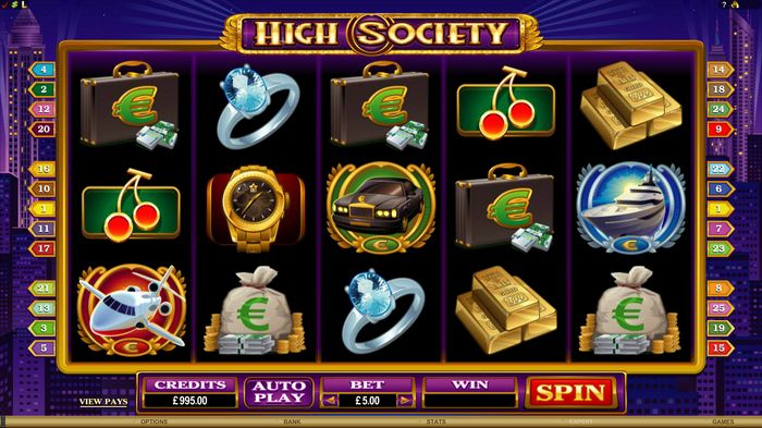 High Society Slot: play field