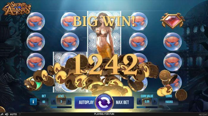 Secrets of Atlantis slot big win