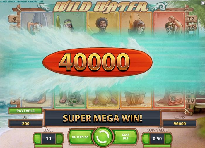Wild Water Slot big win