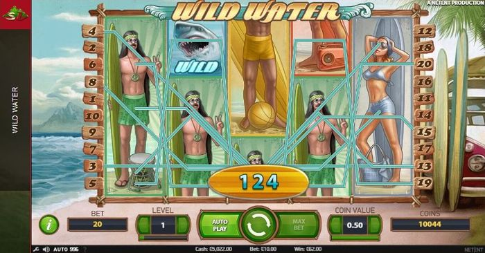 Wild Water slot from NetEnt