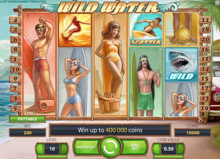 Wild Water NetEnt: main screen