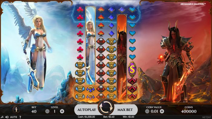 Archangels: Salvation slot playing field