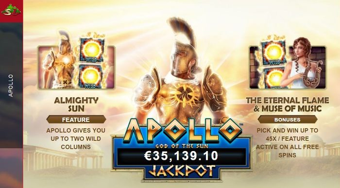 Apollo God of the Sun start screen