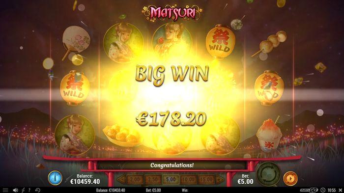 Matsuri slot: big win