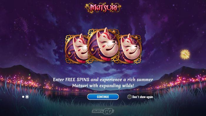 three masks Matsuri Festival Free Spins