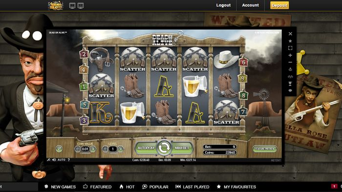 Dead or Alive slot: scatters