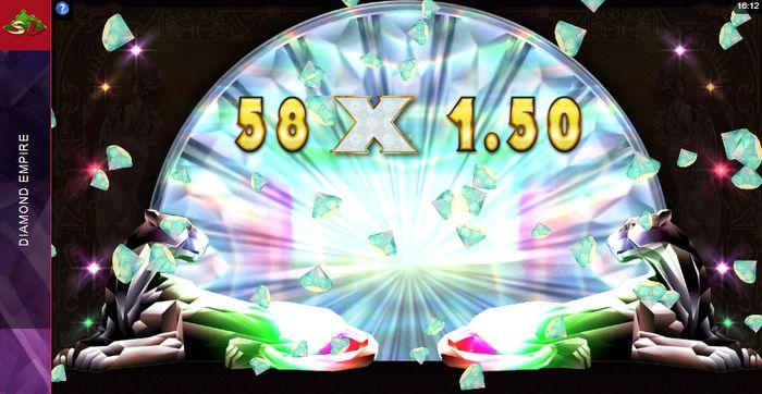 Slot Diamond Empire: multiplier in Bonus Wheel