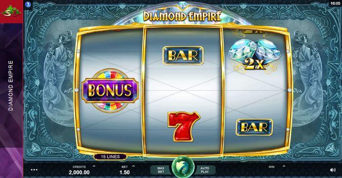 اسلات Diamond Empire - صفحه شروع