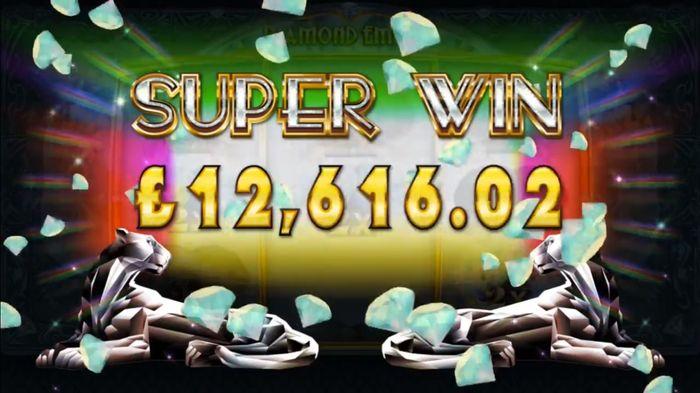 Super win in Diamond Empire Microgaming