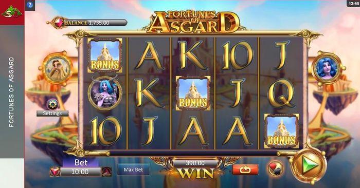3 Bonus symbols in Fortunes of Asgard Slot