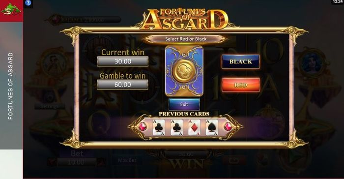 Fortunes of Asgard slot: gamble feature