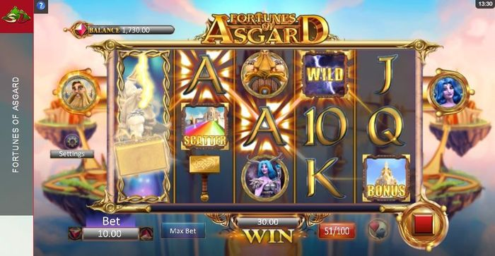 Fortunes of Asgard slot: extended wild symbol